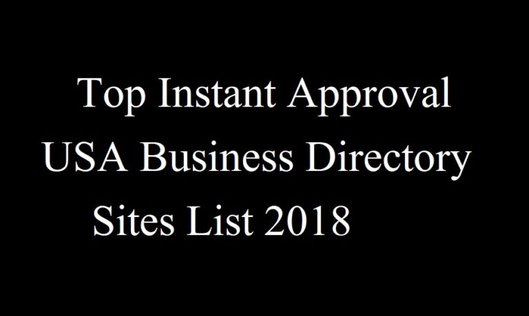 Top Instant Approval USA Business Directory Sites List 2020
