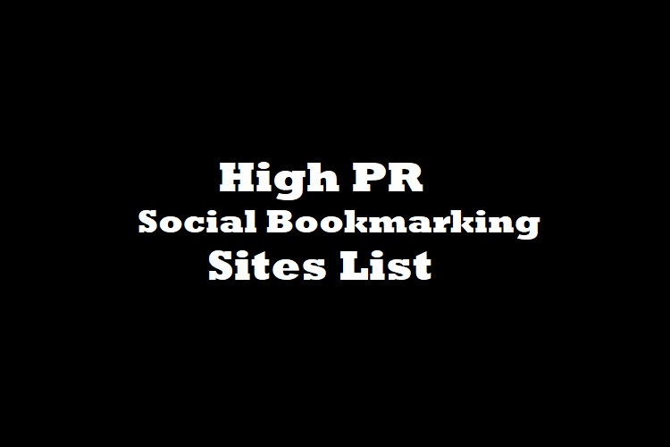 social bookmarking sites lists