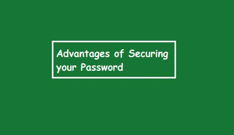 advantages of securing your password
