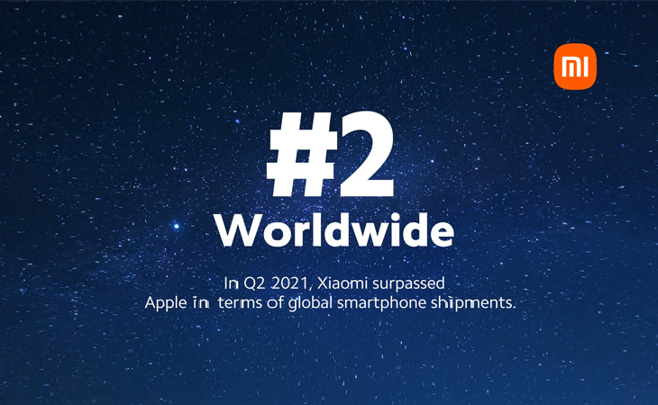 After Apple, xiaomi became the world's second largest smartphone maker