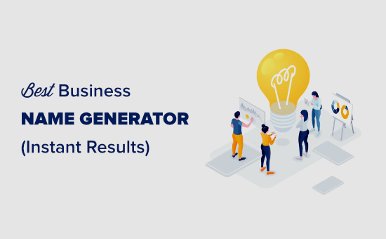 Name your company easily using an online business name generator